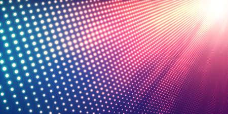 Abstract vettore sfondo con brillanti luci al neon. Segno al neon immagine astratta in prospettiva con. particelle incandescenti. moderno sfondo elegante per presentazioni aziendali.