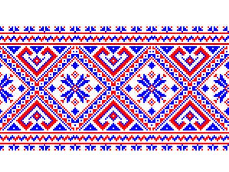 Vector illustration of Ukrainian folk seamless pattern ornament. Ethnic ornament. Border element. Illustration