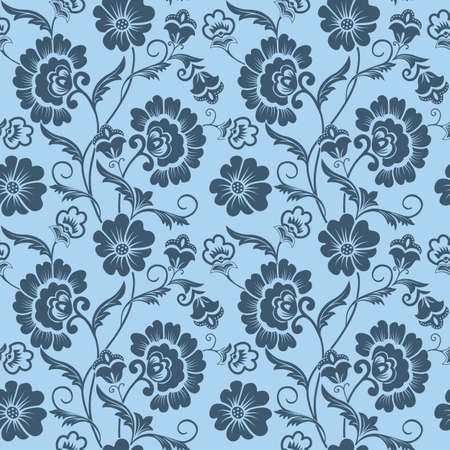 texture backgrounds: Vector flower seamless pattern background. Elegant texture for backgrounds. Classical luxury old fashioned floral ornament, seamless texture for wallpapers, textile, wrapping.