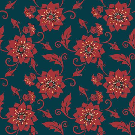 Vector Flower Seamless Pattern Background Elegant Texture For Interesting Pattern Backgrounds