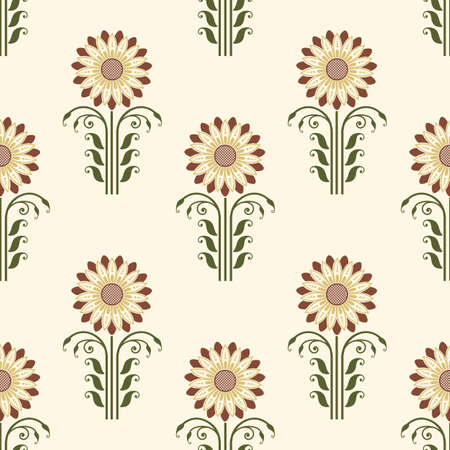 Vector flower seamless pattern background. Elegant texture for backgrounds. Classical luxury old fashioned floral ornament, seamless texture for wallpapers, textile, wrapping.