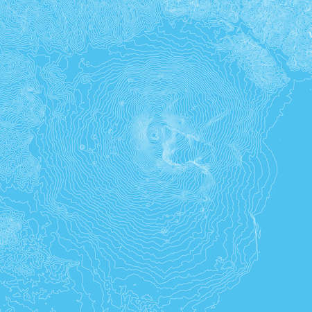 Vector abstract earth relief map. Generated conceptual elevation map. Isolines of landscape surface elevation. Geographic map conceptual design. Elegant background for presentations.