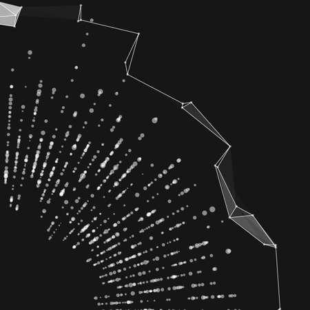 Fondo astratto della maglia del punto rotondo di vettore. Array di punti. Carta stile futuristico. Elegante sfondo per presentazioni aziendali. Sfera di punti Vettoriali