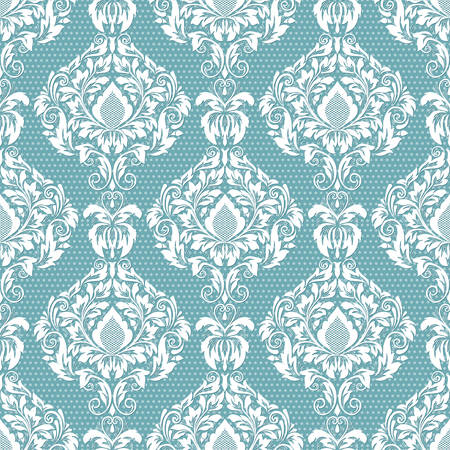 flower leaf: Vector damask seamless pattern background. Classical luxury old fashioned damask ornament, royal victorian seamless texture for wallpapers, textile, wrapping. Exquisite floral baroque template.
