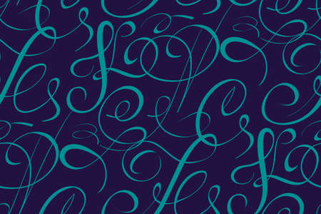 Vector seamless pattern element with abstract handwriting text. Vintage script. Awesome seamless pattern for your design.