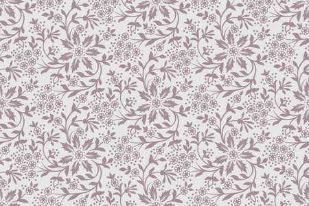 Vecteur de fond sans couture de fleur. Texture élégante pour les arrière-plans. Ornement floral façonné à l'ancienne de luxe classique, texture transparente pour fonds d'écran, textile, emballage Vecteurs