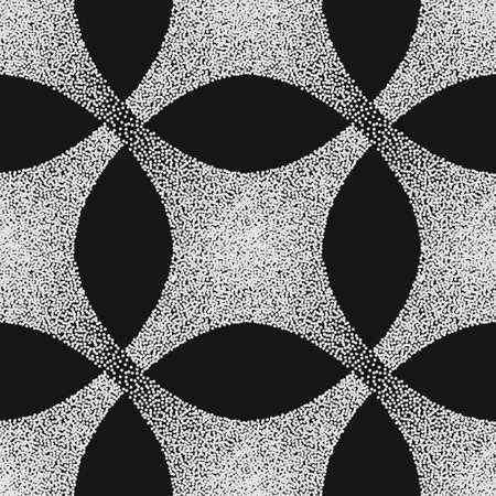 A Vector abstract dotted geometric pattern element. Based on ethnic ornaments. Stipple technique. Pointillism. Illustration