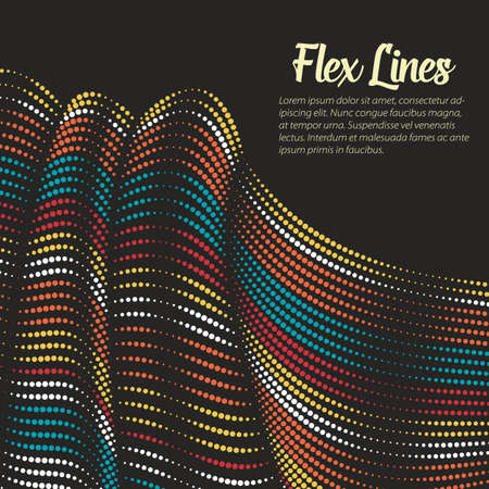 variable: Vector Warped lines background. Flexible stripes twisted as silk forming volumetric folds. Colorful stripes with variable width. Modern abstract creative backdrop. Illustration
