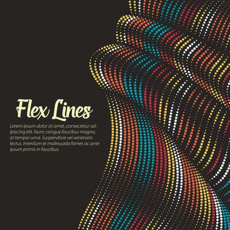 歪んだ線背景をベクトルします。柔軟なストライプ ツイスト体積ひだを形成する絹のよう。可変幅でカラフルなストライプ。モダンな抽象創造的な  イラスト・ベクター素材
