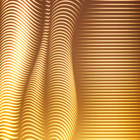 interlace: Vector warped dotted lines background. Flexible stripes of shining points twisted as silk forming volumetric folds. Glowing point cyber waves. Modern abstract creative backdrop.