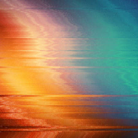 Vector glitch pattern. Digital image data distortion. Colorful abstract pattern for your designs. Chaos aesthetics of signal error. Digital decay.