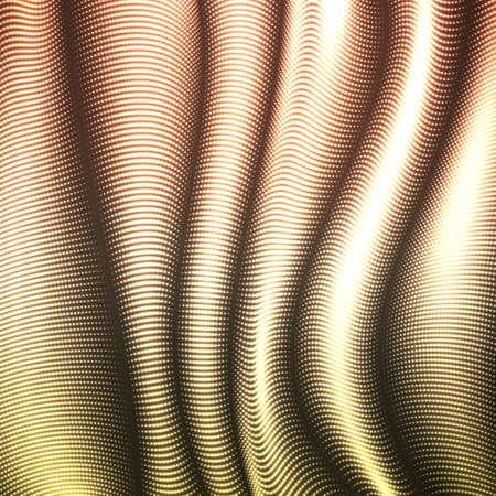 벡터 뒤틀린 된 라인 배경을 왜곡 된. 유연한 줄무늬가 반짝이는 실크가 볼륨 트위스트 폴드로 비틀어졌습니다. 적 열하는 사이버 파도. 현대 추상 창