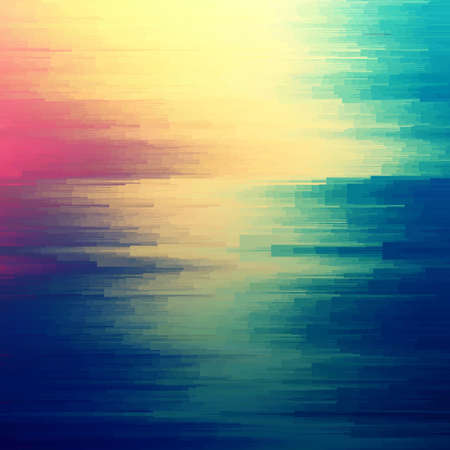 Digital image data distortion. Colorful abstract background for your designs. Chaos aesthetics of signal error. Digital decay.