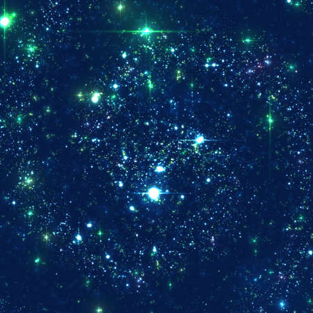 galaxies: Abstract vector background with stars of distant galaxy. Illustration of deep space. Sparkles of stars and galaxies. Unknown part of cosmos somewhere far away from Earth.