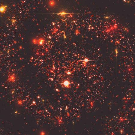 遠くの銀河の星と抽象的なベクトルの背景。深宇宙のイラスト。星や銀河の輝き。地球から遠く離れたどこか宇宙の未知の部分。  イラスト・ベクター素材