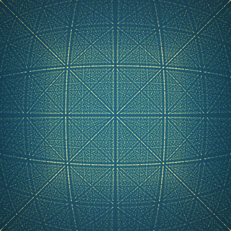 rhombic: Vector infinite rhombic or square tunnel of shining flares on background. Glowing points form tunnel sectors. Abstract cyber colorful background for your designs. Elegant geometric wallpaper.