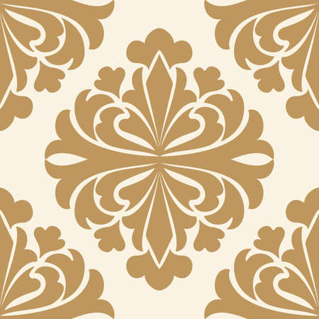 Vector damask seamless pattern element. Classical luxury old fashioned damask ornament, royal victorian seamless texture for wallpapers, textile, wrapping. Exquisite floral baroque template.