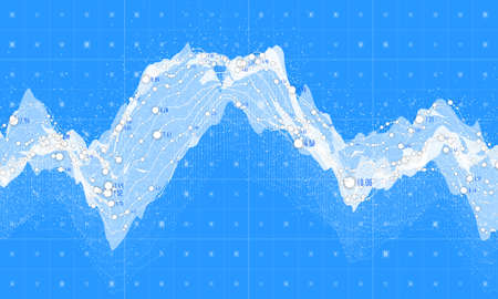 big screen: Big data visualization. Futuristic infographic. Information aesthetic design. Visual data complexity. Complex data threads graphic visualization. Social network representation. Abstract data graph. Illustration