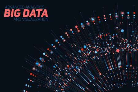 Big data circular colorful visualization. Futuristic infographic. Information aesthetic design. Visual data complexity. Complex data threads graphic visualization. Social network. Abstract data graph.