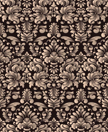 vector element: Vector damask seamless pattern element. Classical luxury old fashioned damask ornament, royal victorian seamless texture for wallpapers, textile, wrapping. Exquisite floral baroque template.