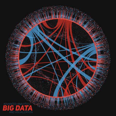 Big data circulaire visualisatie. Futuristische infographic. Informatie esthetisch ontwerp. Visuele gegevenscomplexiteit. Stock Illustratie