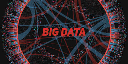 Big data circular visualization. Futuristic infographic. Information aesthetic design. Visual data complexity.