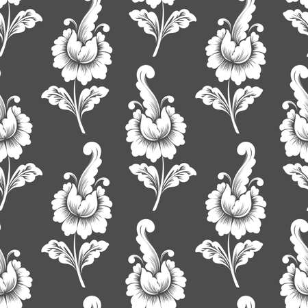 old backgrounds: Vector flower seamless pattern background. Elegant texture for backgrounds. Classical luxury old fashioned floral ornament.