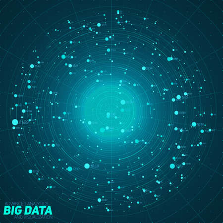 information design: Big data blue visualization. Futuristic infographic. Information aesthetic design. Visual data complexity.