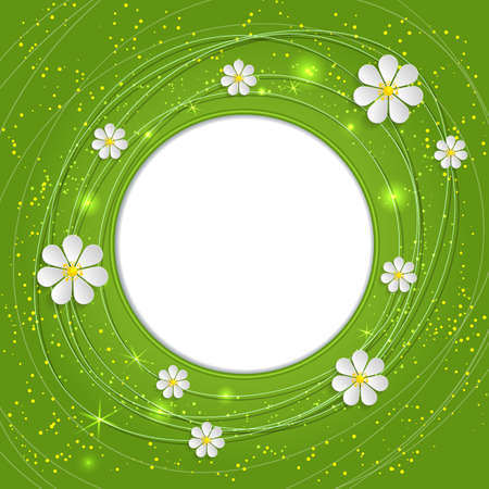 cartoline vittoriane: Invitation or wedding card with flower background and elegant floral elements. Green spring background.