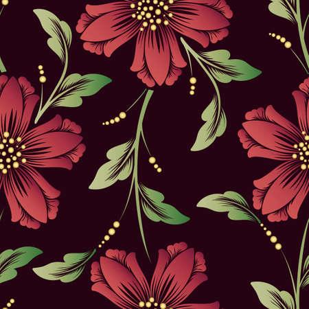 Vector bloem naadloze patroon element. Elegante textuur voor achtergronden. Klassiek luxe ouderwets bloemenornament, naadloze textuur voor behang, textiel, verpakking.