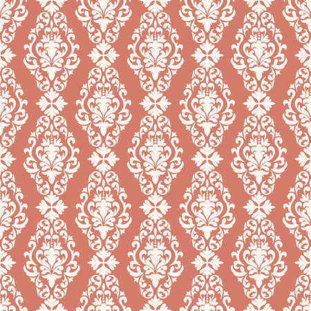 Vector damask seamless pattern background. Classical luxury old fashioned damask ornament, royal victorian seamless texture for wallpapers, textile, wrapping. Exquisite floral baroque template.