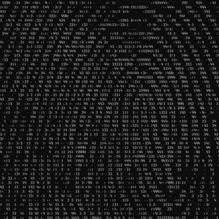 vector abstract binary representation of fingerprint cyber thumbprint grayscale pattern composed of numbers biometric