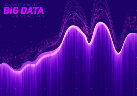 information design: Vector abstract big data visualization. Futuristic infographics aesthetic design. Visual information complexity. Illustration