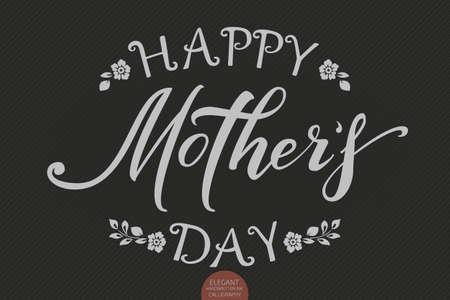 Hand drawn lettering happy mothers day. elegant modern handwritten
