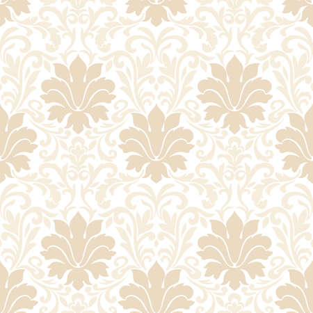 victorian wallpaper: A Vector damask seamless pattern background. Classical luxury old fashioned damask ornament, royal victorian seamless texture for wallpapers, textile, wrapping. Exquisite floral baroque template