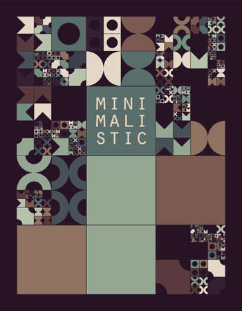 sized: Subdivided grid system with symbols. Randomly sized objects with fixed space between. Futuristic minimalistic layout. Conceptual generative background. Procedural graphics. Creative coding.