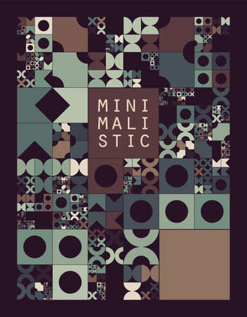 subdivided: Subdivided grid system with symbols. Randomly sized objects with fixed space between. Futuristic minimalistic layout. Conceptual generative background. Procedural graphics. Creative coding.