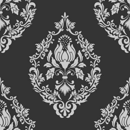 old fashioned: Vector damask seamless pattern element. Classical luxury old fashioned damask ornament, royal victorian seamless texture for wallpapers, textile, wrapping. Exquisite floral baroque template.