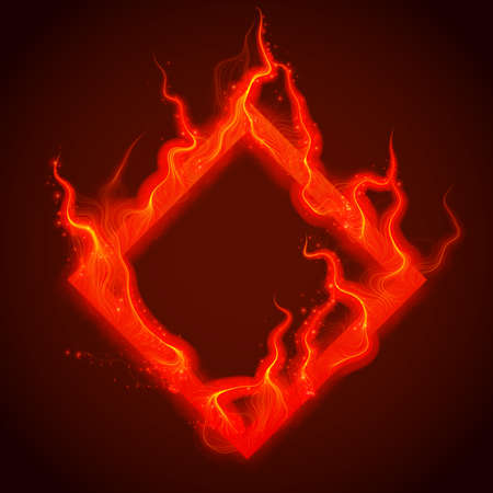 Red square flame icon.
