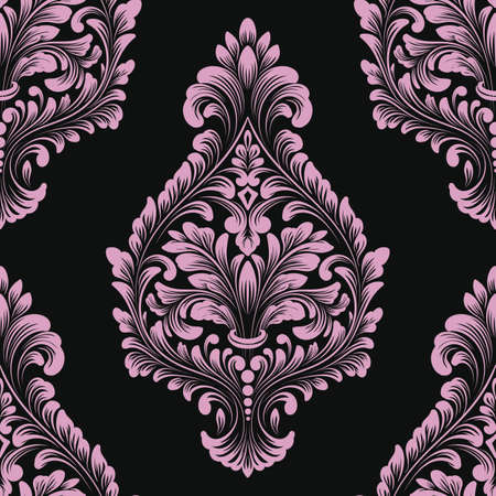Classical luxury old fashioned damask ornament seamless pattern illustration.