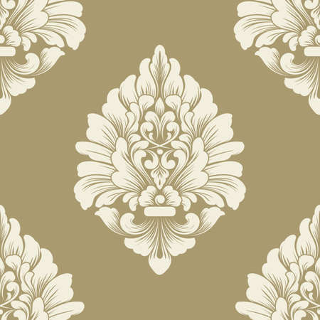 Classical luxury old fashioned damask ornament pattern
