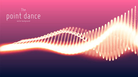 Vector abstract particle wave, points array with shallow depth of field. Futuristic illustration. Technology digital splash or explosion of data points. Point dance waveform. Cyber UI, HUD element.