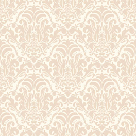 Vector damask seamless pattern background. Classical luxury old fashioned damask ornament, royal victorian seamless texture for wallpapers, textile, wrapping. Exquisite floral baroque template. Vektoros illusztráció