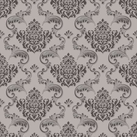 Vector damask seamless pattern background. Classical luxury old fashioned damask ornament, royal victorian seamless texture for wallpapers, textile, wrapping. Exquisite floral baroque template Çizim