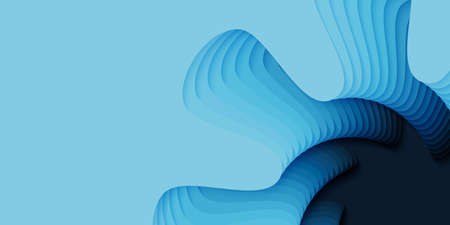 Vector 3D abstract background with paper cut flower shape. Colorful carving art. Paper craft Antelope canyon landscape with gradient colors. Minimalistic design for business presentations, flyers