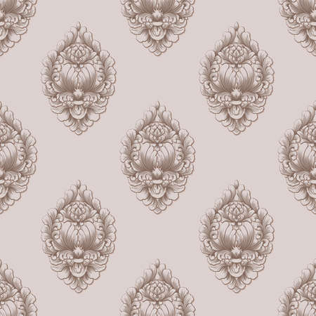 Damask seamless pattern background. Classical luxury old fashioned damask ornament, royal victorian seamless texture for wallpapers, textile, wrapping. Exquisite floral baroque template
