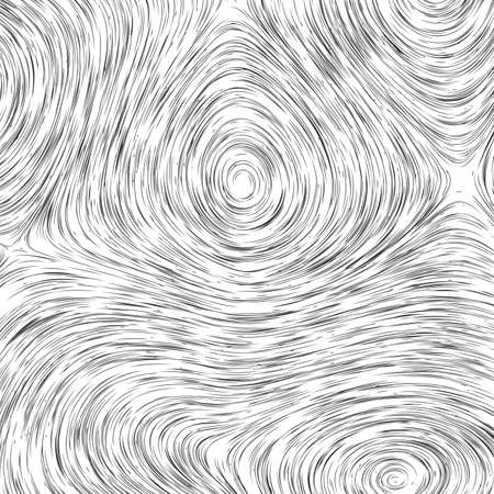 monochrome field visualization of forces. Magnetic or gravitational fluctuations chart. Science backdrop with a matrix of arows with magnitude and direction. Flow representation. Interaction Illustration