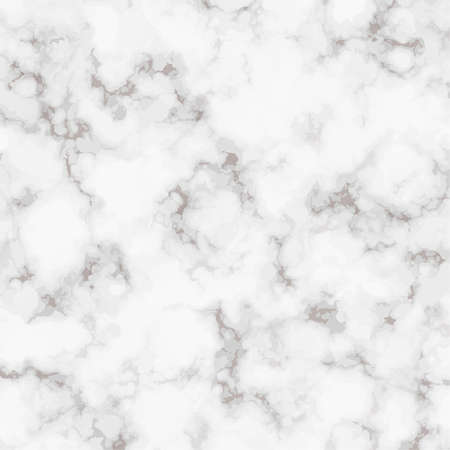 Vector Marble realistic texture. White marble rock pattern. Elegant background for your design. Square Tile