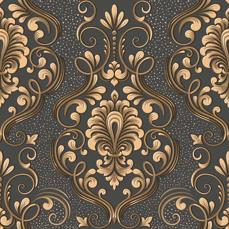Vector damask seamless pattern element. Elegant luxury texture for wallpapers, backgrounds and page fill
