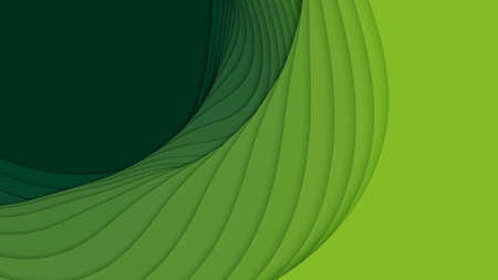 Vector 3D abstract background with paper cut shapes. Green carving art. Paper craft landscape with gradient fade colors. Minimalistic design layout for business presentations, flyers, posters Standard-Bild - 125164690